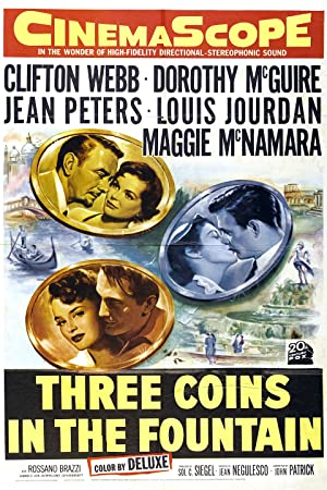 Drei Münzen im Brunnen